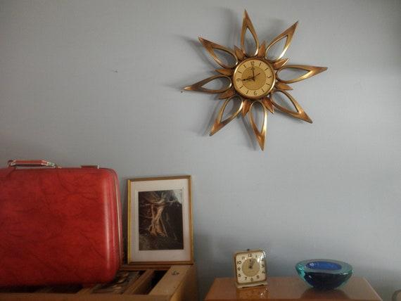 MId Century Syroco Petal Clock