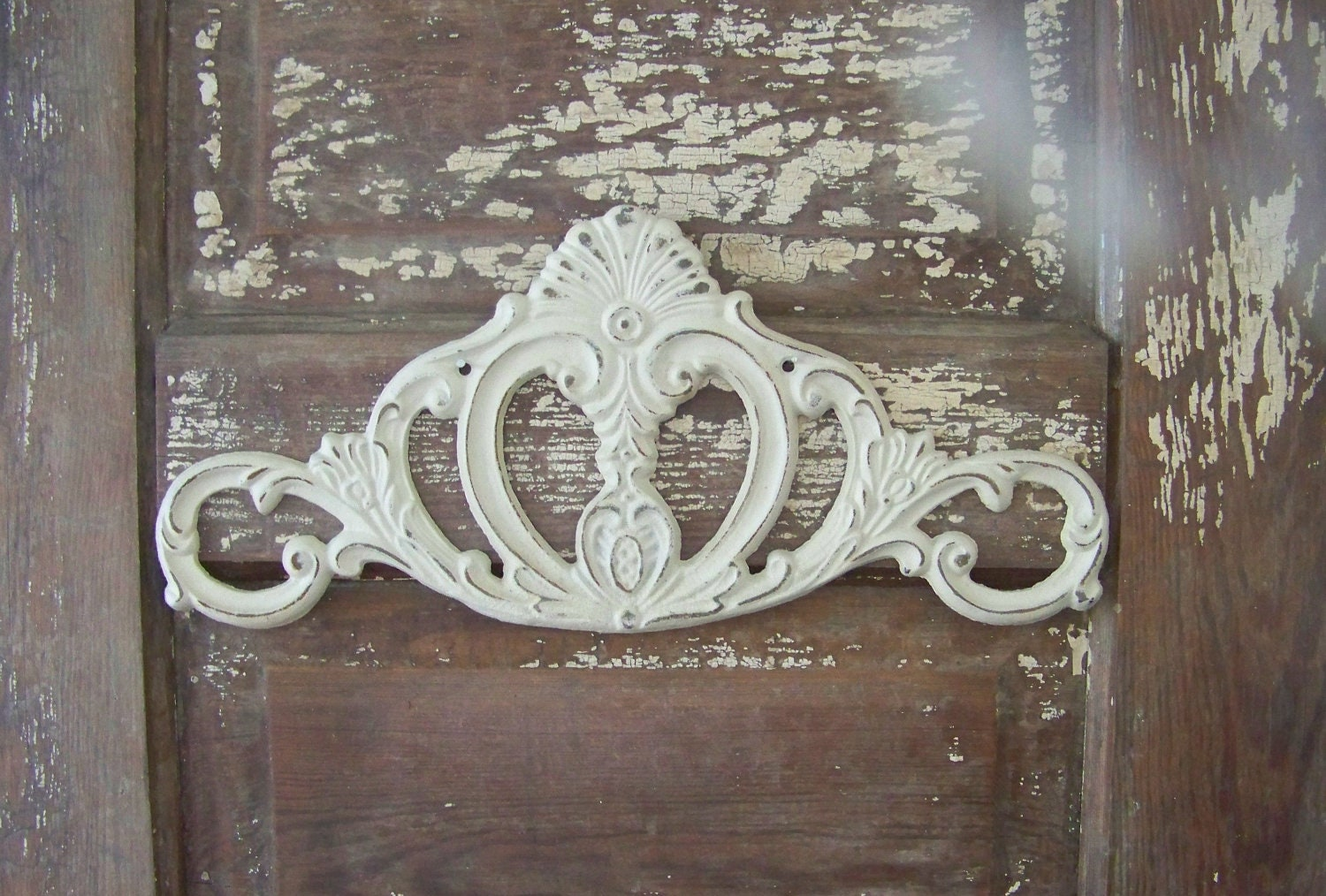 Cast iron wall home decor shabby chic scroll hanging for Shabby chic wall art