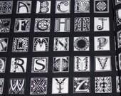 OOP Michael Miller Fabric, Nouveau Letters