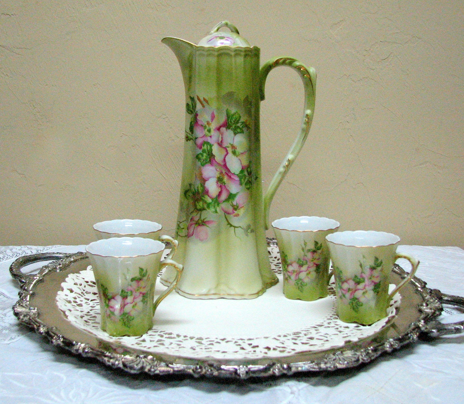 Beautiful Vintage Nippon Reproduction Hand Painted Porcelain