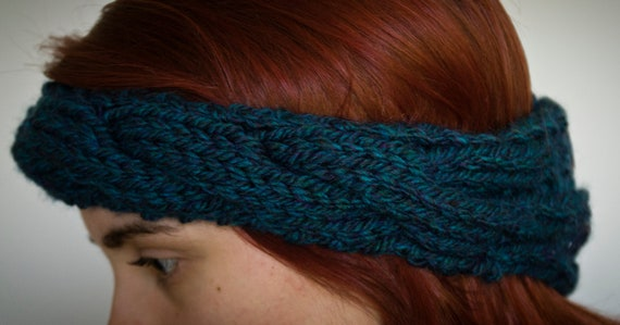 The Braided Headband - in Blue