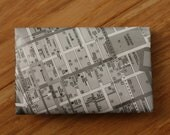Melbourne CBD Map Envelope Card Holder Wallet
