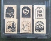 Too Terrific Tags by Stampin' Up Rubber Stamp Set - Retired