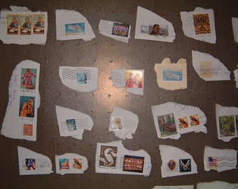 Lot of 50 Used United States Postage Stamps