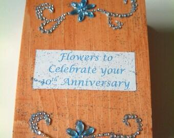 Keepsake 10th Anniversary Wooden Greeting Card