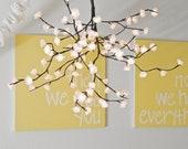 White Blossom Chandelier Mobile