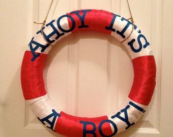 Ahoy It's A Boy Life Preserver