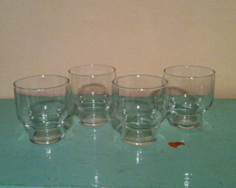 SALE Set of Four Vintage Juice Glasses