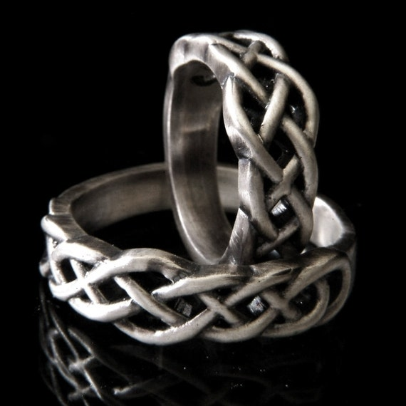 celtic knot wedding band set 925 sterling silver wedding ring set