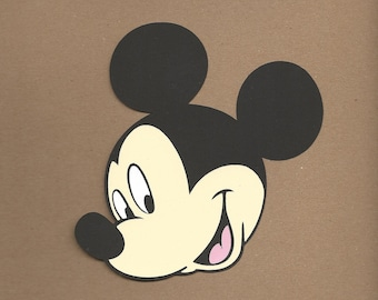 1- 5.5 inch Mickey Mouse Head Cricut Die Cut
