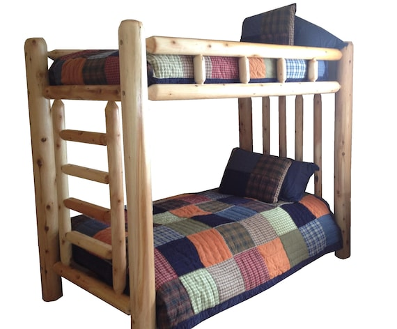 Rustic Cedar Log Bunk Bed Bunkbed By MichiganRustics On Etsy