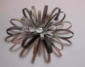 Self Adhesive Paper Flower (light pink and gray)