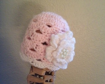 Pretty In Pink Baby Hat