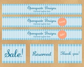 Etsy Premade Shop Set - Banners, Avatars, Thumbnails, and Business Card