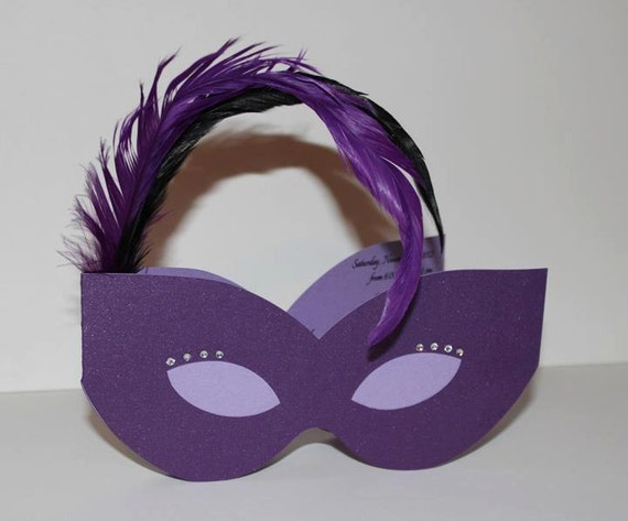 Masquerade Mask Invitation by DivoneDesign on Etsy