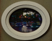 Fantasyland - Morning Tea II - Small Oval Wooden Magnetic Frame