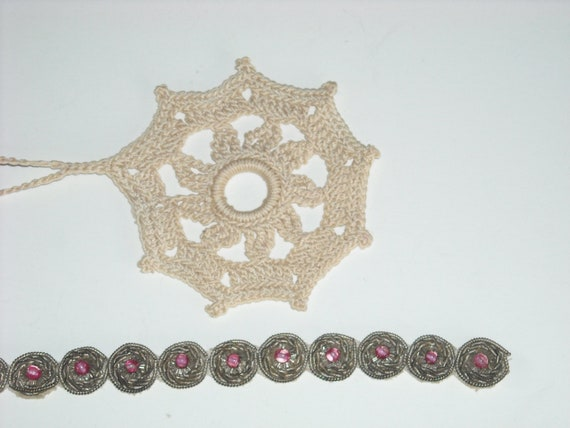 vintage lace trimmings   HOLD FOR DEBORAh