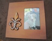 Gold Fleur De Lis Frame for 5x7 photo