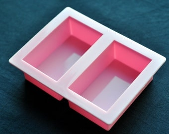 2 x 120g Rectangle Bar Flexible Silicone Silicon Soap Molds Cake Molds Chocolate Mold