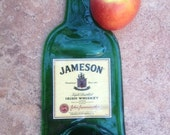 Jameson Triple Distiled Irish Whiskey Whisky USA version Slumped Melted Flattened Flat Bottle Cheese Tray Spoon Rest Glass Plate Eco Gift