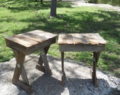 Fence Picket Nightstand Tables