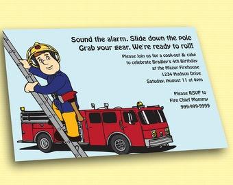 Fireman Sam Printable Birthday Invitation