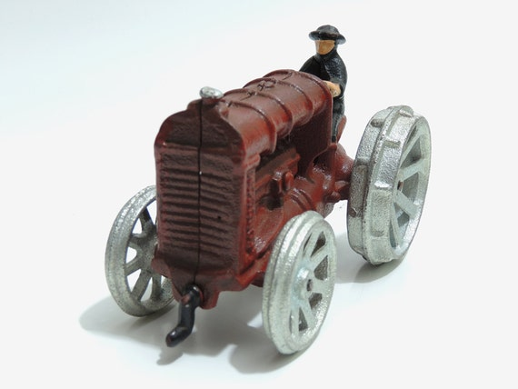 Red Cast Iron Tractor - 1950's