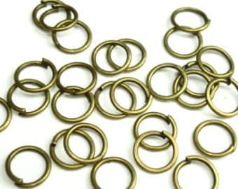 Open Jump Ring Antique Brass O Rings 12mm 100pcs
