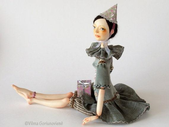 "OOAK Art doll ""Alice's Birthday"""