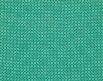 CLEARANCE Denyse Schmidt fabric  Cross Square in Green , 1 yard Chicopee