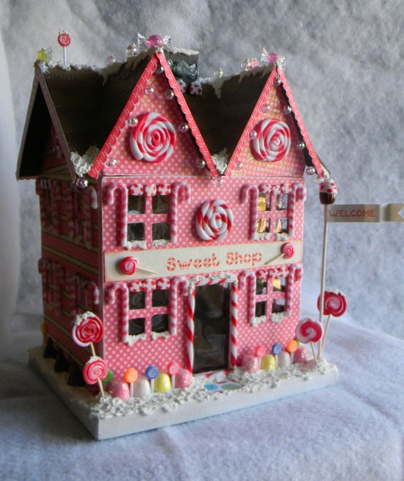 Christmas Paper Mache House
