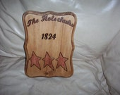 Last Name and Address Primitive (weatherproof) plaque