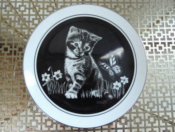 RESERVED FOR DEDE: Are You A Flower By Droguett Kittens World Collectors Plate Limited Edition 1979 Royal Cornwall