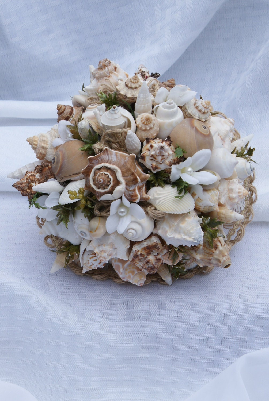 Seashell Beach Wedding Bouquet By KagCreations On Etsy