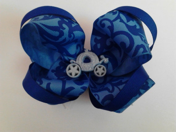 Large 3-Layer Cinderella Inspired Bow