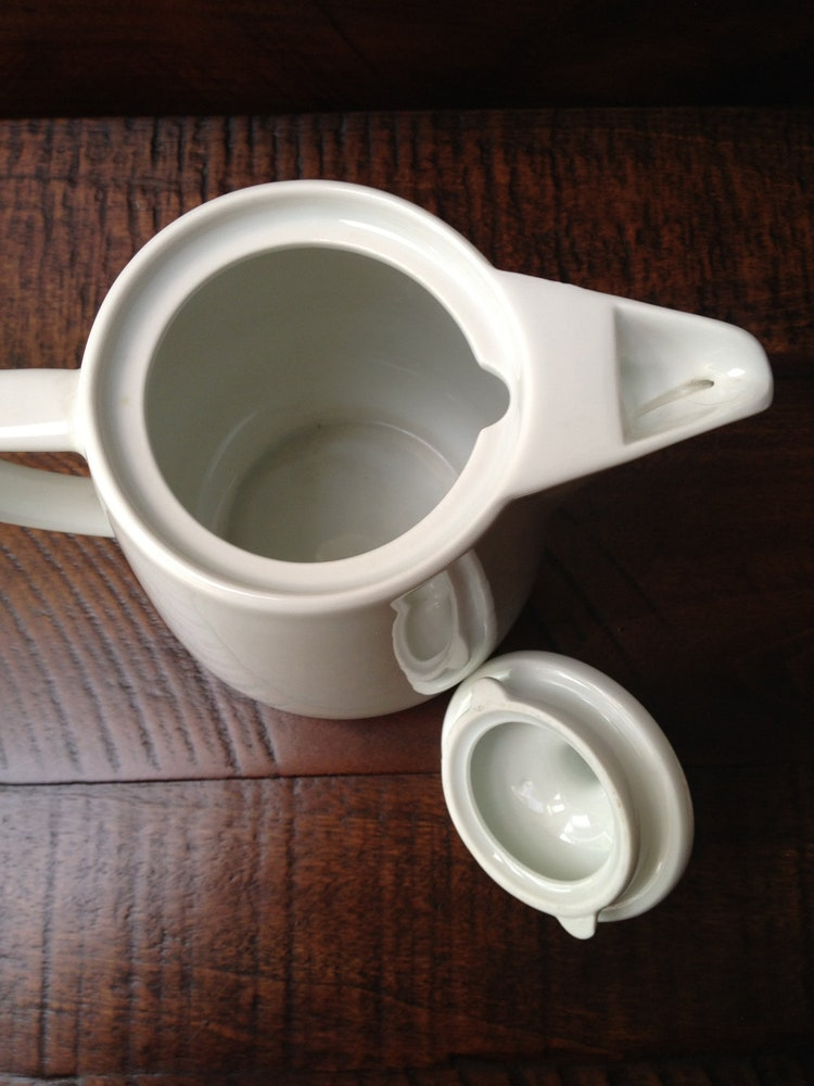 Melitta White Porcelain Coffee Pot Carafe By