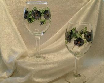 VIOLET WINE GLASSES set of four