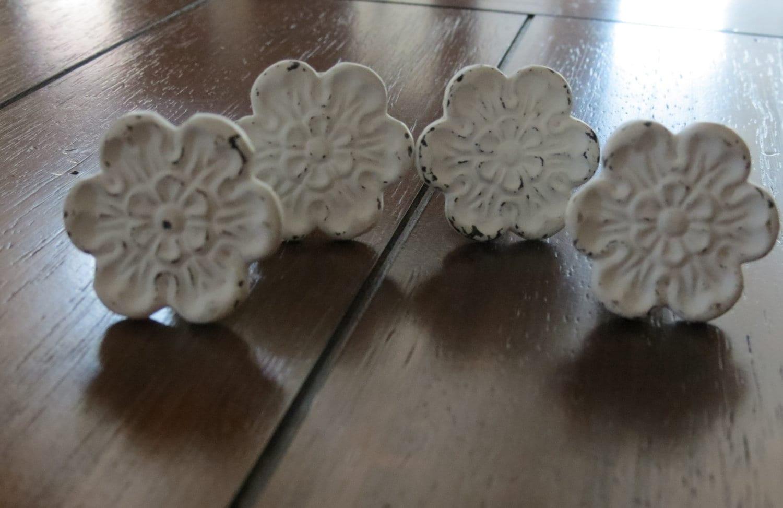 Vintage Inspired Knobs Drawer Knobs Dresser Knobs Flower