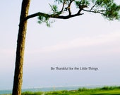 Pensacola Beach Print, Beautiful girl by tree, sky and water, inspirational quote