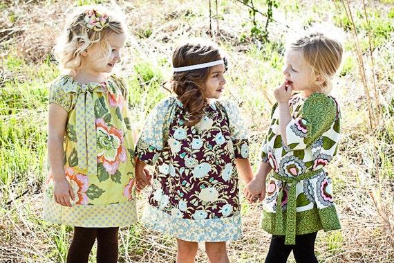 Custom Girls Peasant Dresses/Girl Dress- Available Sizes 6-12mo, 12-18mo, 2t, 3t, 4t. 5, 6, 7/8, 9/10, 11/12