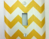 Yellow Chevron Light Switch Cover- Lightswitch Plate Cover
