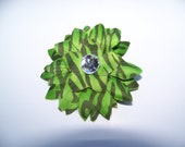 Small Lime Green 2.5 Inch Flower Clip