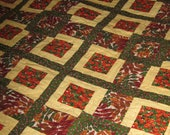Autumn Leaves throw or wall quilt