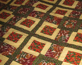 Autumn Leaves Throw or Wall Quilt #5005