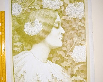 Paul Berthon, Original Maitres de L'Affiche, Collector's Proof 1900. SP.Plate No.14. Art Nouveau Print.