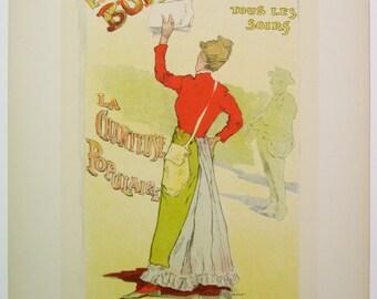 L. Stevens, Original Maitres de L'Affiche Poster, French 1899, Plate No.151, Ad for Eugenie Buffet, appearing at Teatre de la Republique.