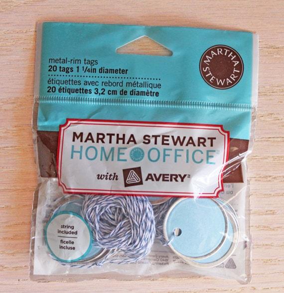 Martha Stewart Metal-rim Gift Tags, new in package