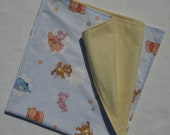 "Baby blanket - Winnie The Pooh, cotton, flannel. Ready to ship square 69cm/27"" or custom order, with eco GIFT"