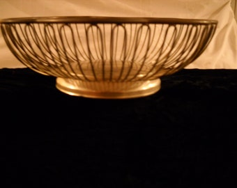 Vintage Silverplate Wire Bowl