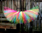 Rainbow / Rave Tutu - Custom Tutu - Available in Infant, Toddlers, Girls, Teenager, Adult and Plus Sizes